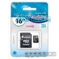 Карта памяти SD / MicroSD с адаптером - 16 гигабайт
