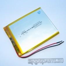 Аккумулятор планшета 90мм*70мм*3мм 2500mAh - 2 контакта