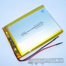 Аккумулятор планшета 95мм*70мм*3мм 3000mAh - 2 контакта