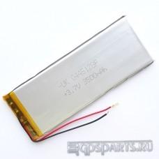 Аккумулятор планшета 125мм*47мм*3мм 3500mAh - 2 контакта