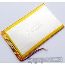 Аккумулятор планшета 127мм*80мм*3мм 5000mAh - 2 контакта