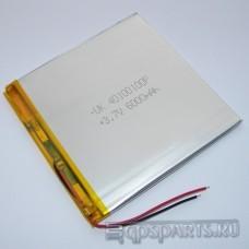 Аккумулятор планшета 100мм*100мм*4мм 6000mAh - 2 контакта