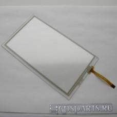 """Сенсорное стекло (тачскрин) 6 - 6,5"""" (155мм x 88мм, для автомагнитол и навигаторов) шлейф сбоку N16"""