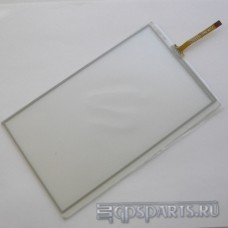 """Сенсорное стекло (тачскрин) 7"""" дюймов (164мм x 99мм, для автомагнитолы и навигатора) шлейф сбоку N37"""