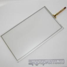 """Сенсорное стекло (тачскрин) 7"""" дюймов (166мм x 92мм, для автомагнитолы и навигатора) шлейф сбоку N38"""