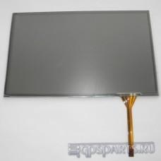 """Сенсорное стекло (тачскрин) 7"""" дюймов (162мм x 102мм, для автомагнитолы и навигатора) N45"""